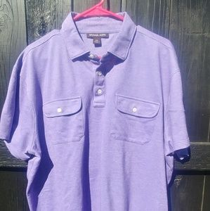 Michael Kors XXL Purple Polo Style Shirt😗